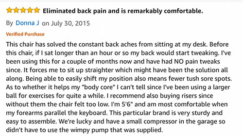 isokinetic office ball chair review