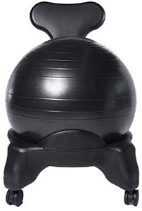ball chair with exercise rubber