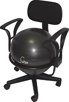 best ball chair with armrests