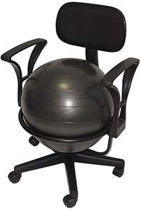 deluxe fitness ball chair